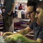 J.J. Abrams e Roberto Orci sul set di Star Trek (2009)