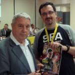 L'editore Sergio Bonelli e il nostro Marco Pesaresi