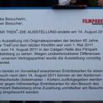 Il cartello di chiusura della mostra