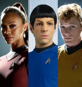 Uhura, Spock e Chekov