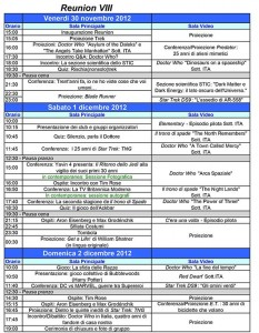 Programma Reunion VIII 2012