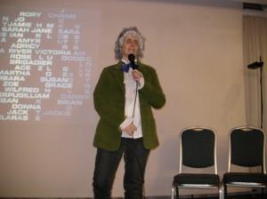 Gabriella Cordone Lisiero impersona il terzo Doctor Who