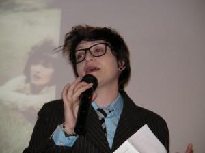 Federica Minguzzi alla conferenza su Doctor Who