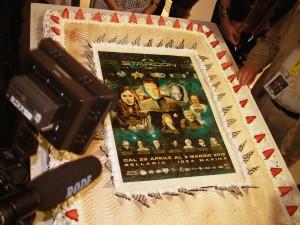 La torta della cena di gala, con su la locandina della StarCon.