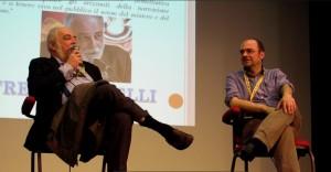 Alfredo Castelli conversa amabilmente con Armando Corridore.