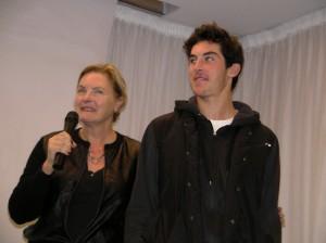 Denise Crosby e figlio.