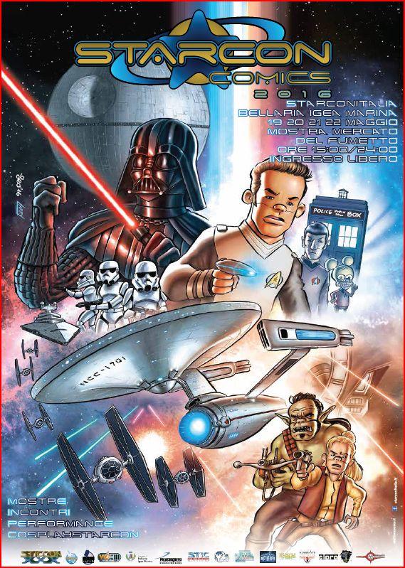 Il poster della StarCon Comics di Leo Ortolani (matite) e del fratello Larry (colori)