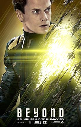 Il poster ufficiale del personaggio di Pavel Chekov.